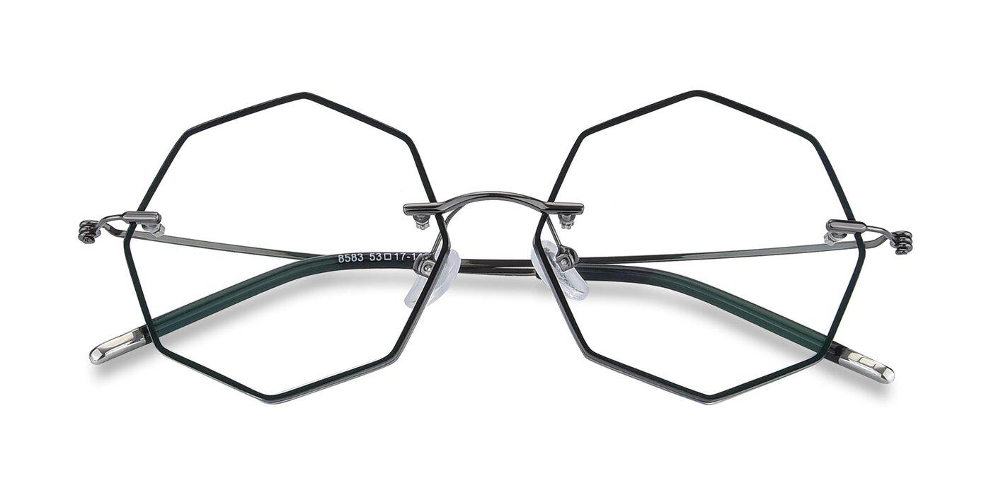 Y7004 - Black / Gun Eyeglasses