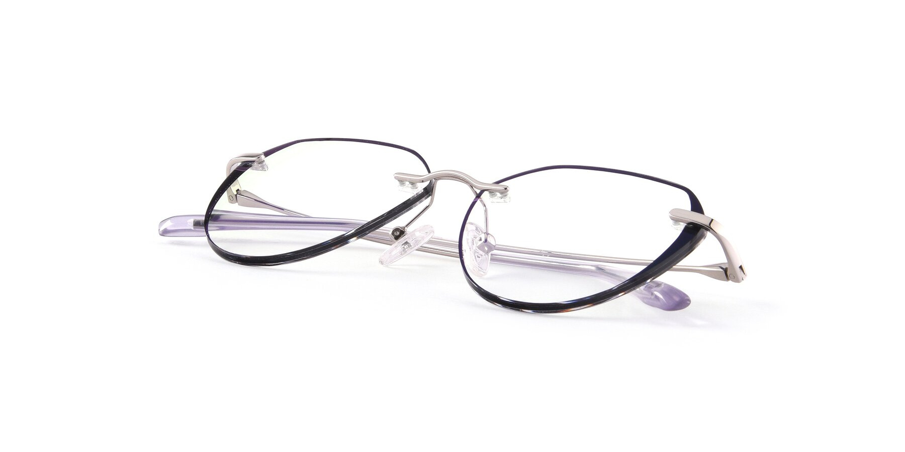 View of 88563 in Silver-Black with Clear Eyeglass Lenses