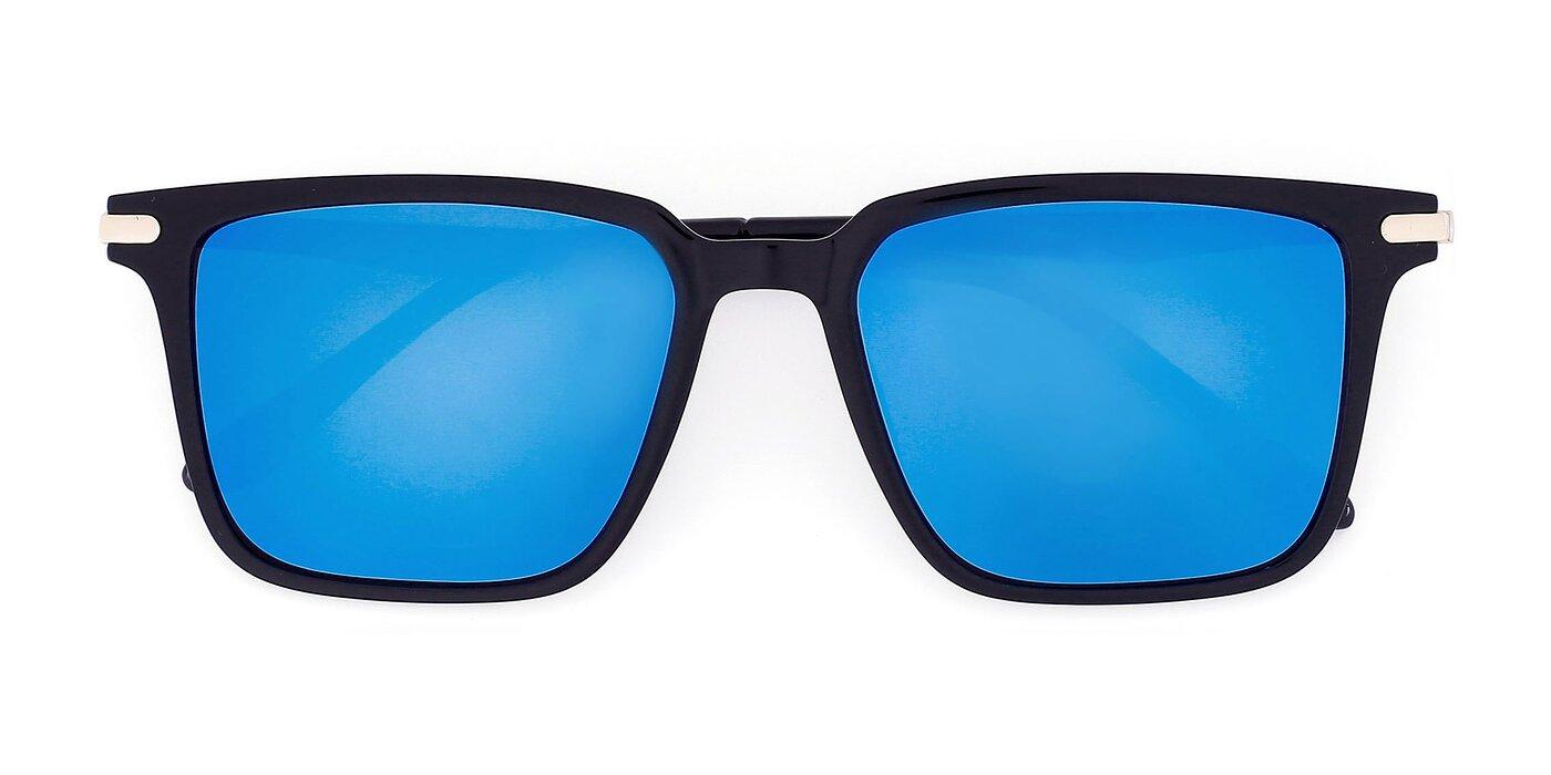 8729 - Black Mirrored Polarized Sunglasses