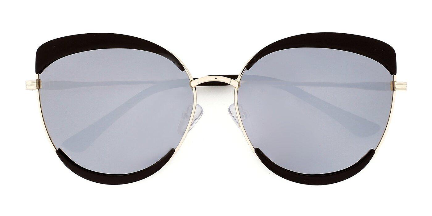 1822 - Black / Gold Mirrored Polarized Sunglasses