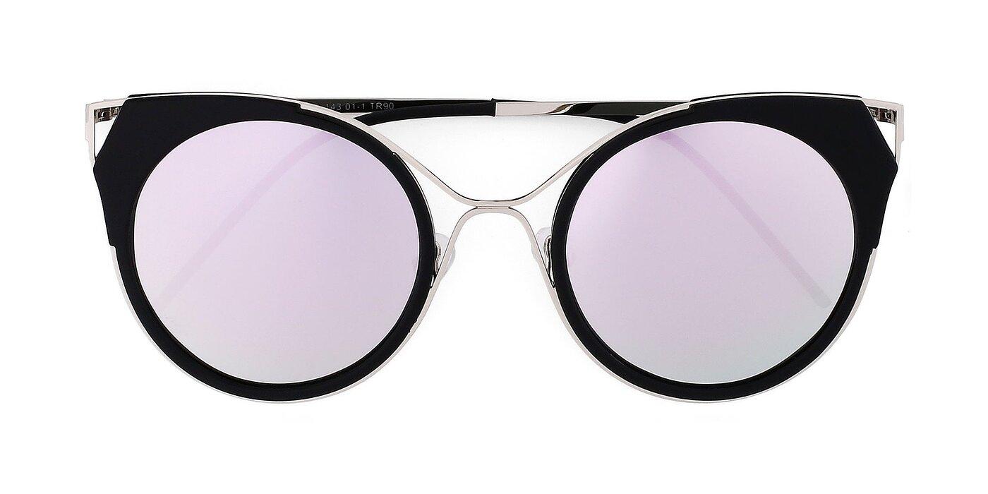 1833 - Black / Silver Mirrored Polarized Sunglasses