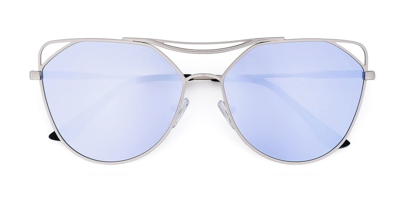 JC2036 - Copper Mirrored Polarized Sunglasses