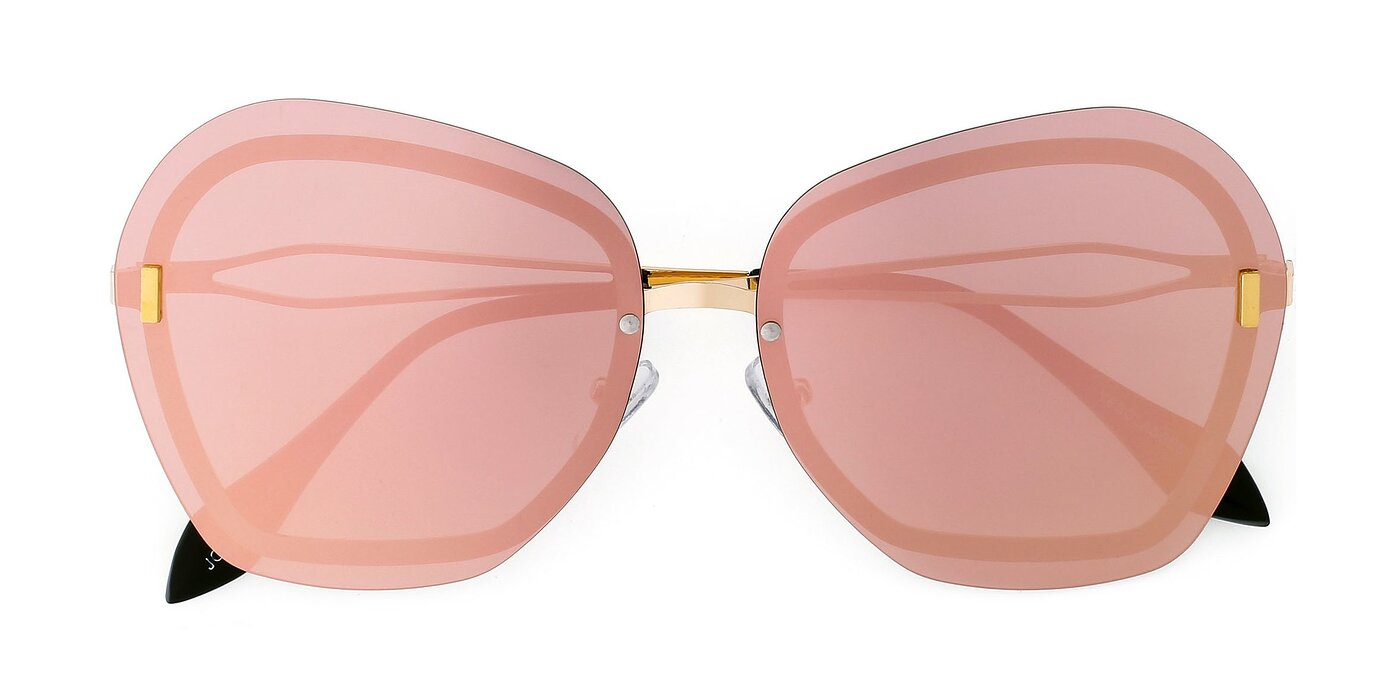 JC2038 - Gold Mirrored Polarized Sunglasses
