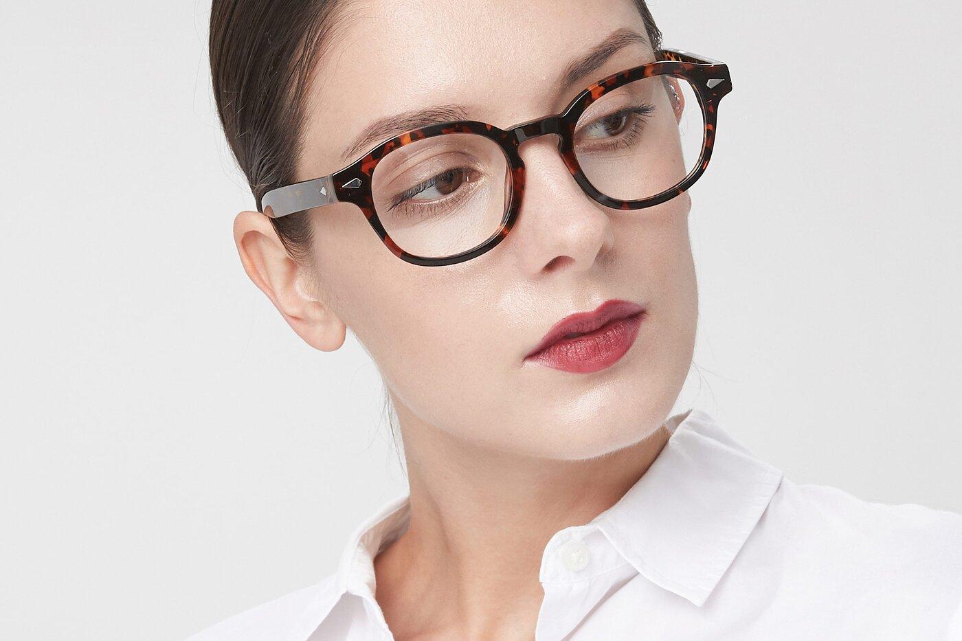 Tortoise Horn-Rimmed Geek-Chic Hipster Eyeglasses