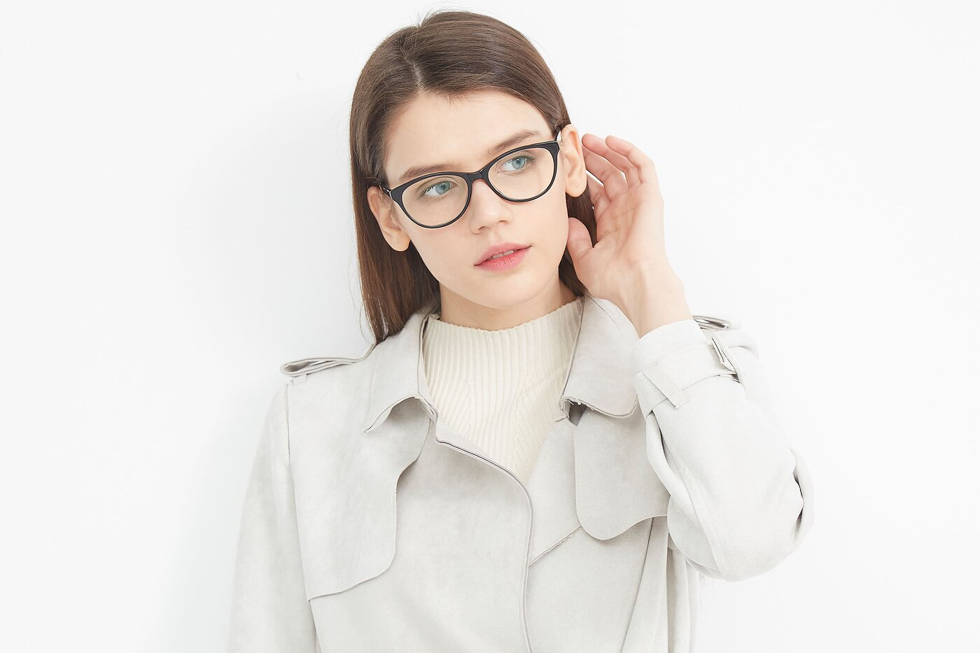 Tortoise-Brown Hipster Acetate Cat-Eye Eyeglasses