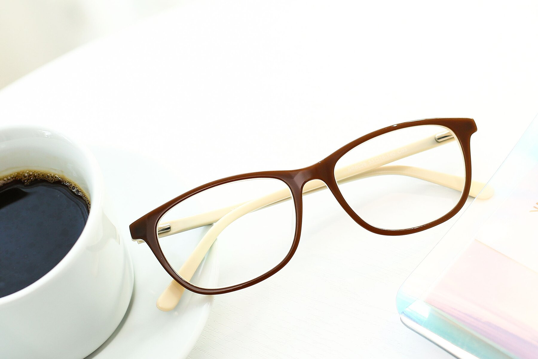 Lifestyle photography #1 of SR6026 in Coffee with Clear Eyeglass Lenses