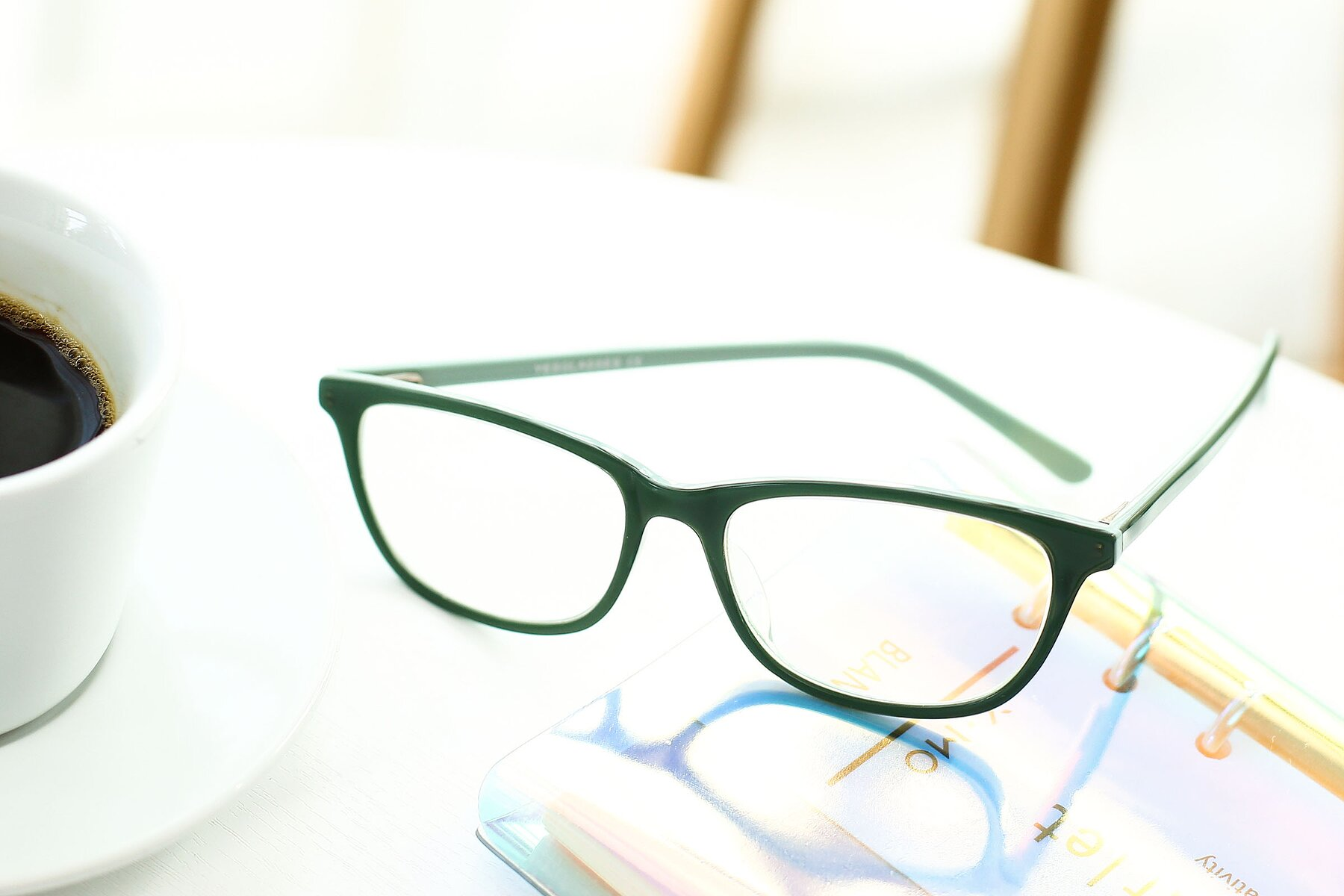 Lifestyle photography #2 of SR6026 in Sea Green with Clear Eyeglass Lenses