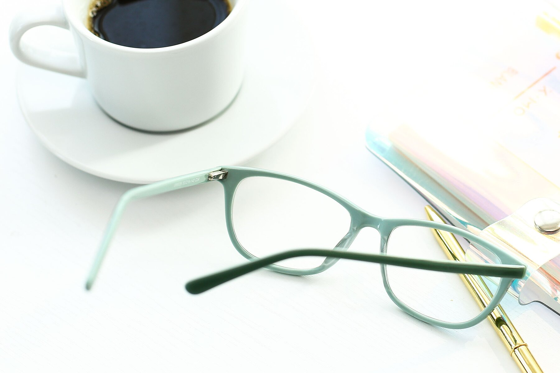 Lifestyle photography #3 of SR6026 in Sea Green with Clear Eyeglass Lenses