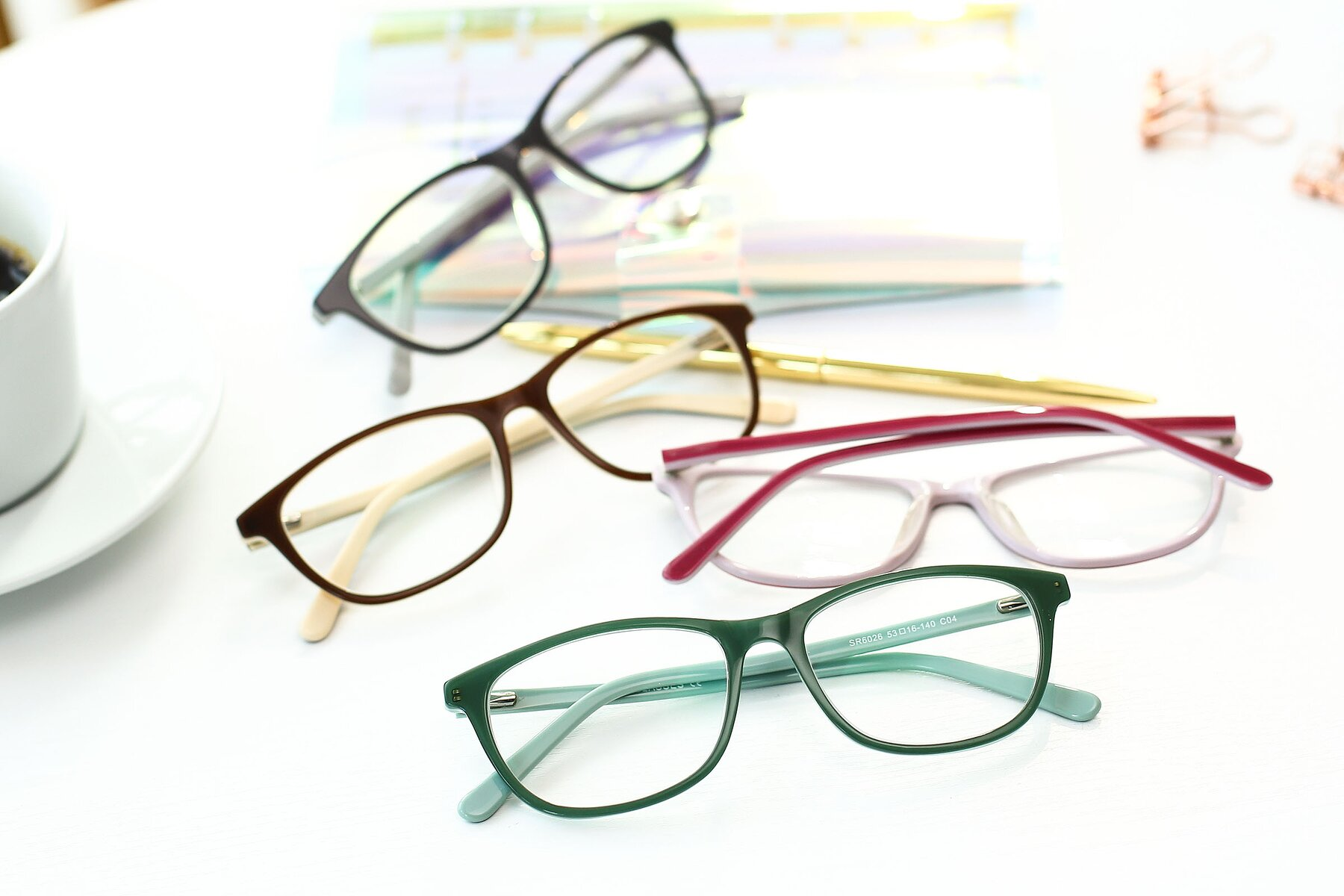 Lifestyle photography #4 of SR6026 in Sea Green with Clear Eyeglass Lenses