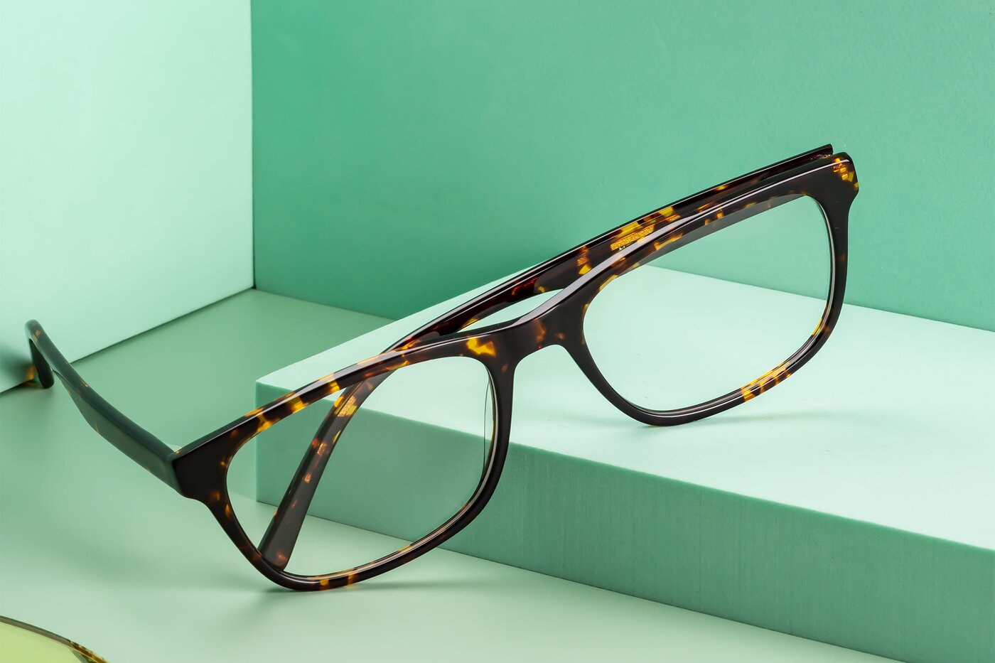 Chocolate-Tortoise Wayfarer Classic Rectangle Eyeglasses