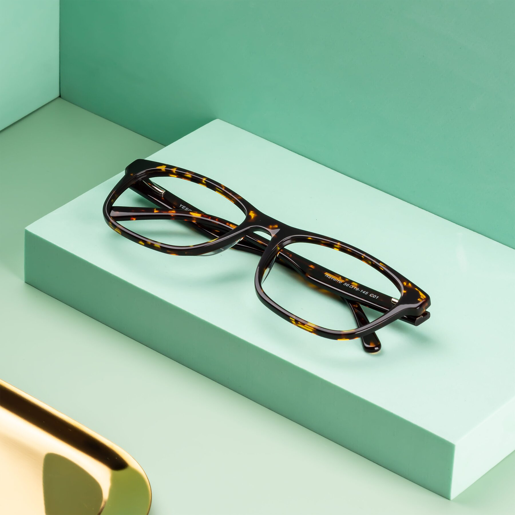Men's lifestyle photography #2 of Navarro in Chocolate-Tortoise with Clear Eyeglass Lenses