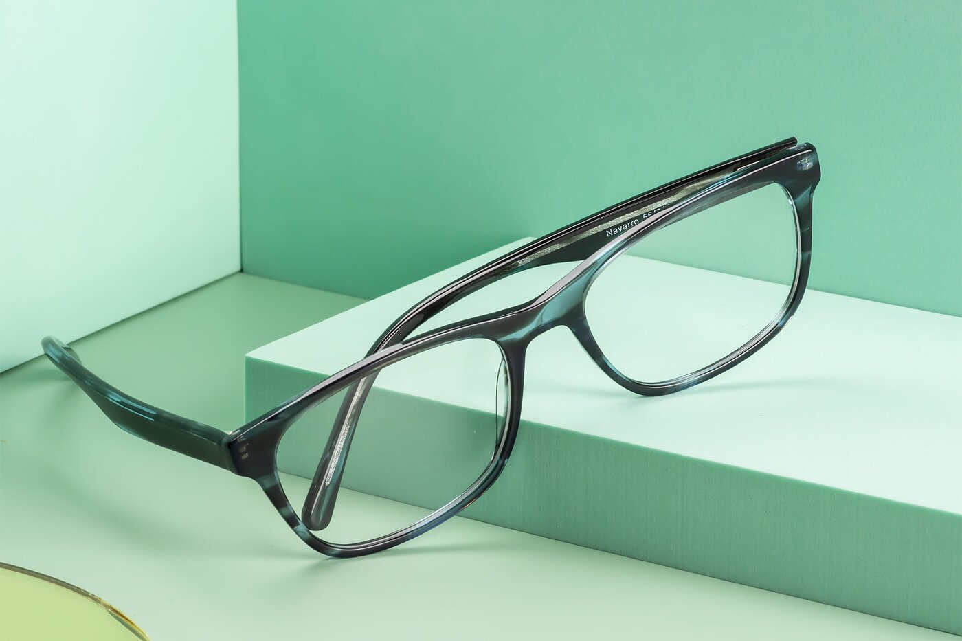 Blue-Tortoise Wayfarer Classic Rectangle Eyeglasses