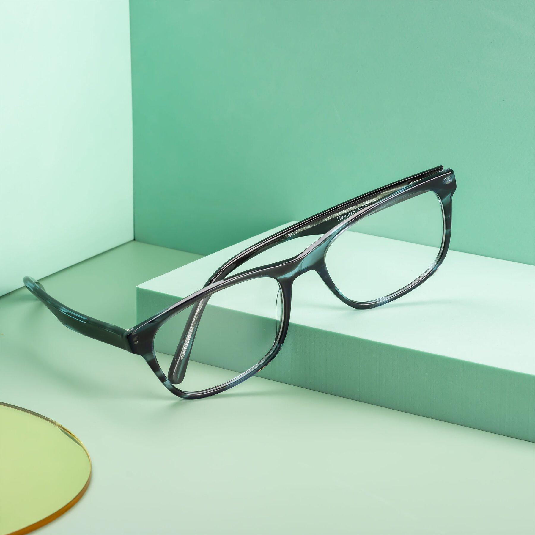 Men's lifestyle photography #1 of Navarro in Blue-Tortoise with Clear Eyeglass Lenses