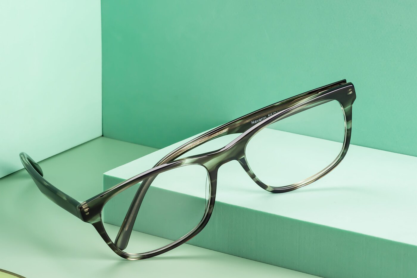 Gray-Tortoise Wayfarer Classic Rectangle Eyeglasses