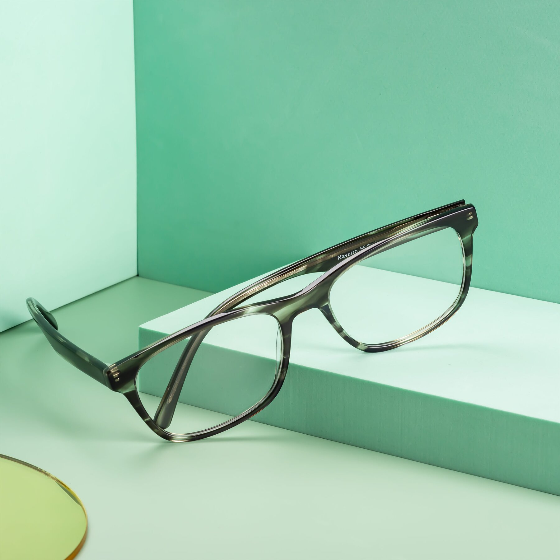 Men's lifestyle photography #1 of Navarro in Gray-Tortoise with Clear Eyeglass Lenses