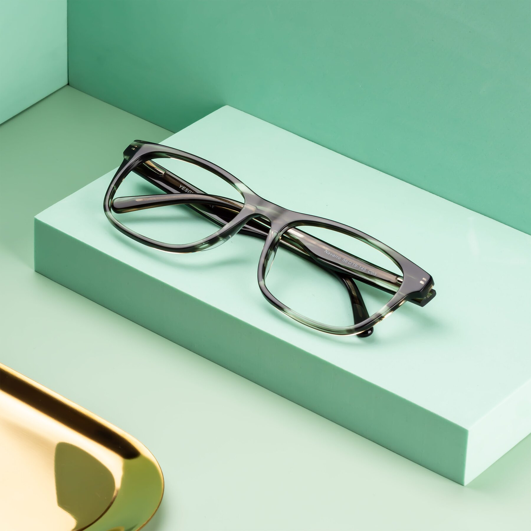 Men's lifestyle photography #2 of Navarro in Gray-Tortoise with Clear Eyeglass Lenses