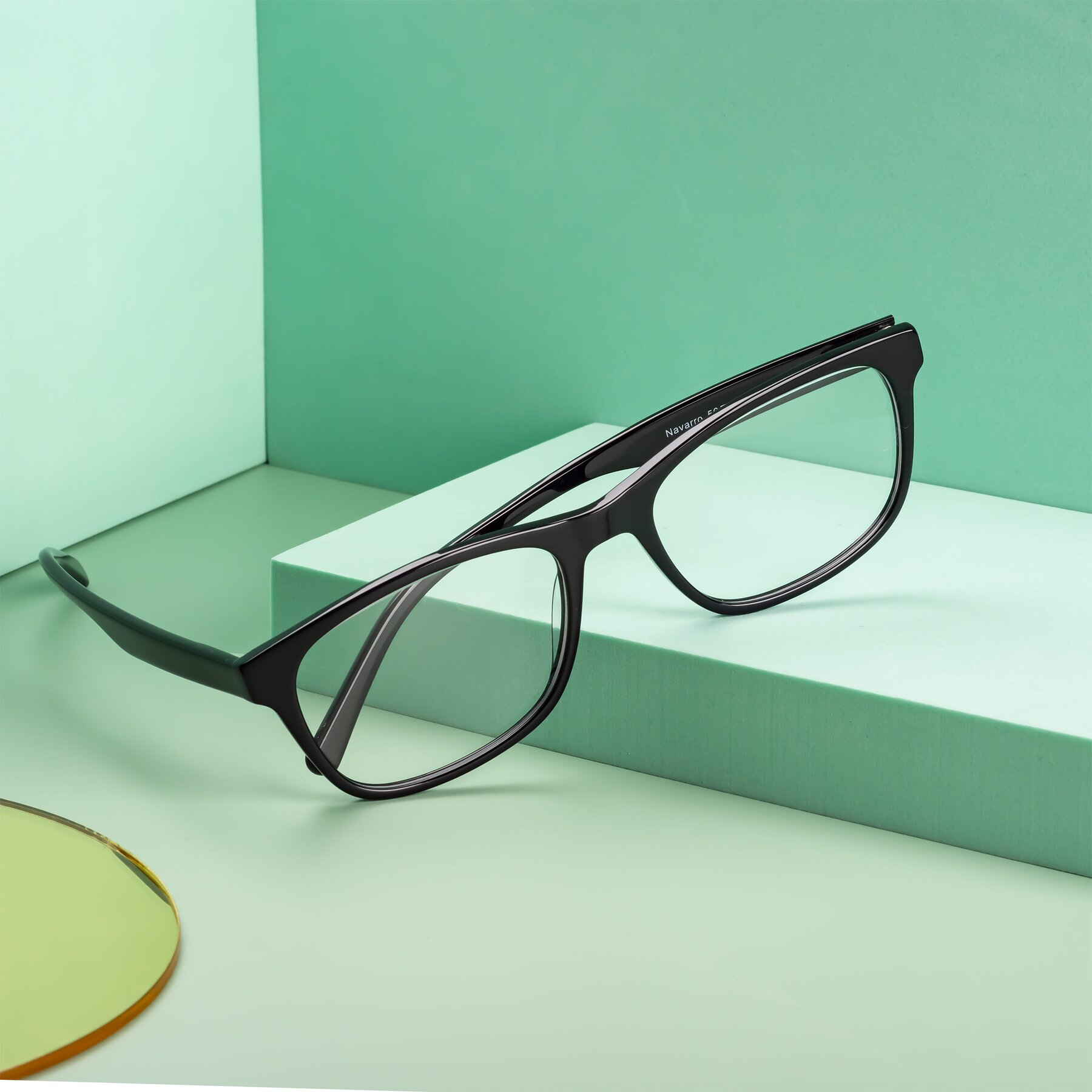 Men's lifestyle photography #1 of Navarro in Black with Clear Eyeglass Lenses