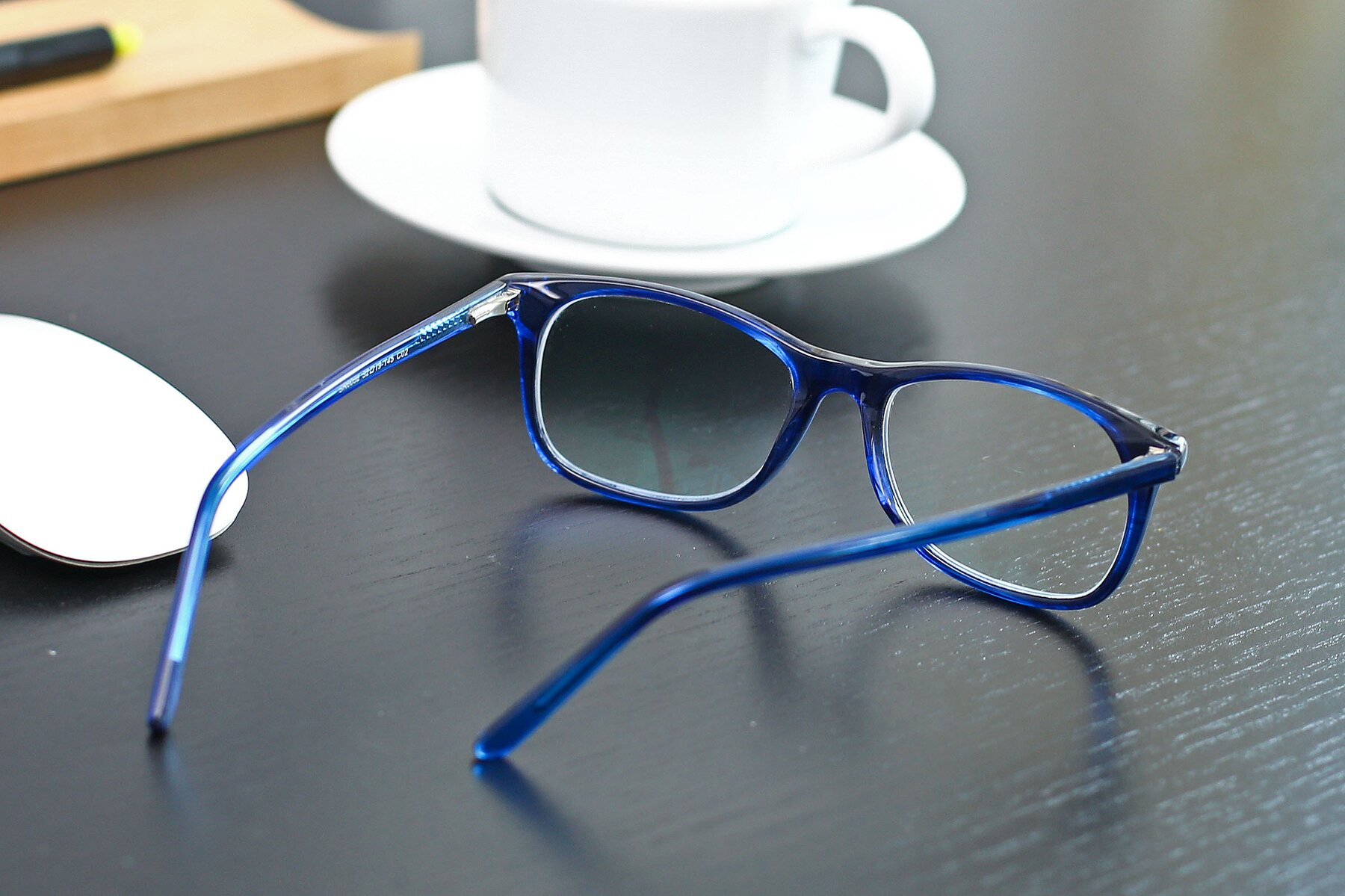 Lifestyle photography #3 of SR6052 in Striped Blue with Clear Blue Light Blocking Lenses