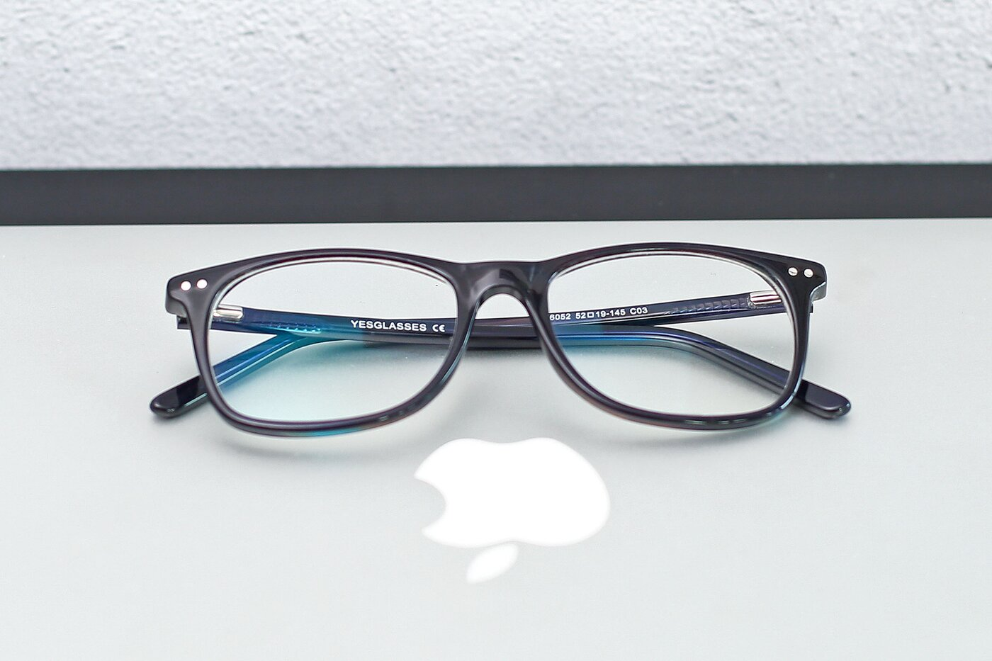 Striped Black-Brown Wayfarer Acetate Rectangle Eyeglasses