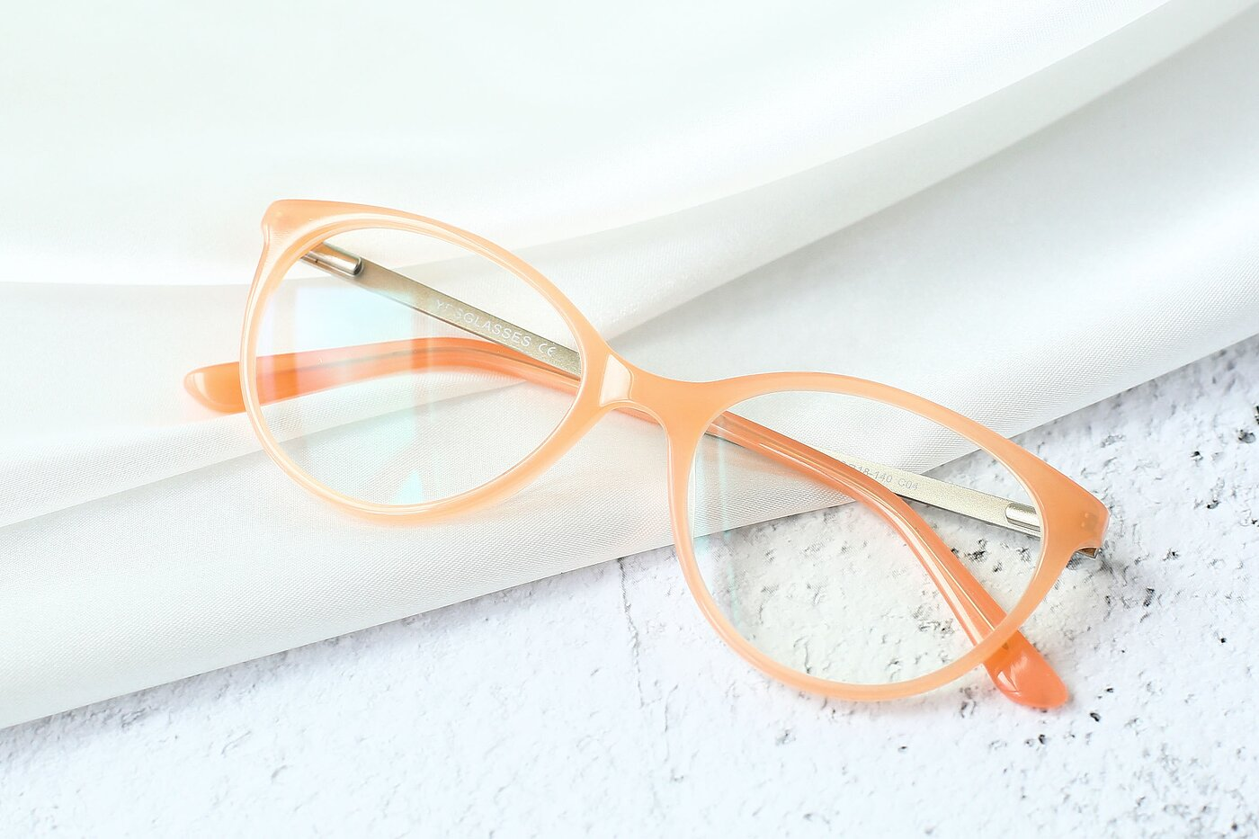 Pink Hipster Acetate Cat-Eye Eyeglasses