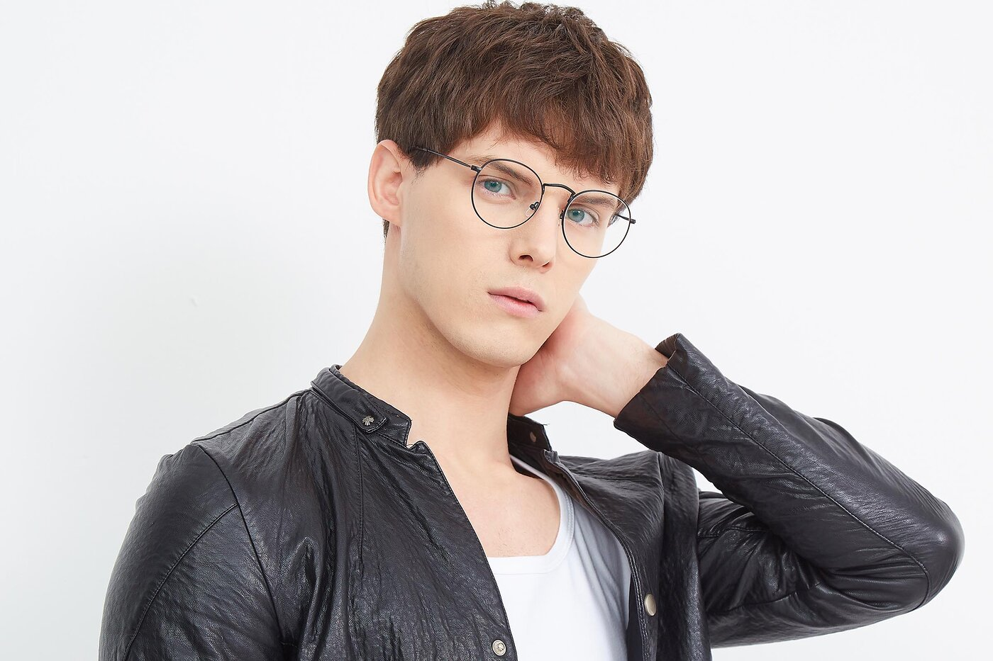 Black Retro-Vintage Thin Round Eyeglasses