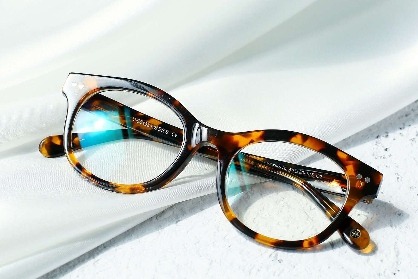 Honey Tortoise Horn-Rimmed Geek-Chic Cat-Eye Eyeglasses