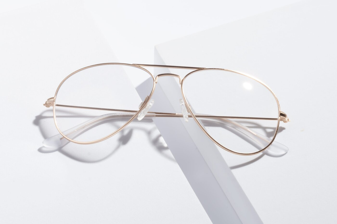 Jet Gold Grandpa Thin Aviator Eyeglasses