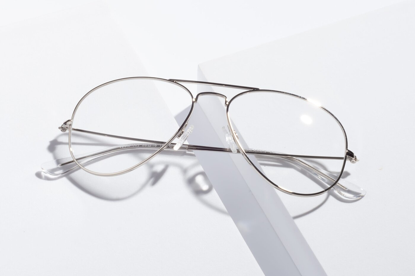Silver Grandpa Thin Aviator Eyeglasses