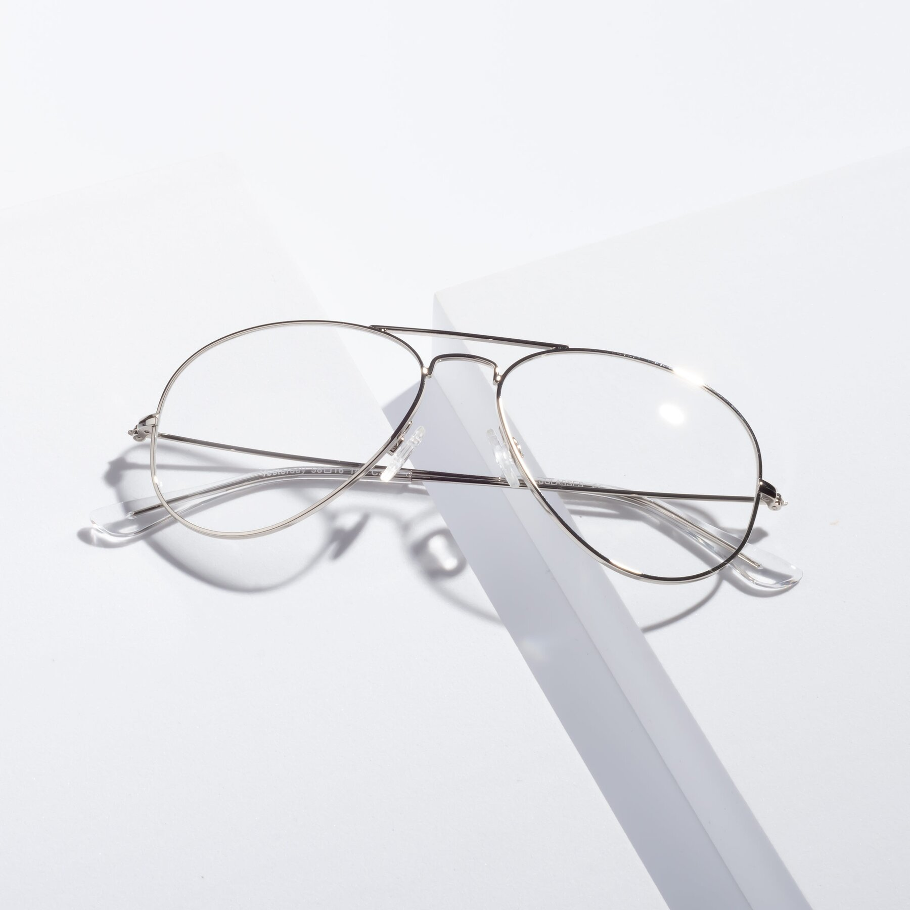 Lifestyle photography #1 of Yesterday in Silver with Clear Eyeglass Lenses