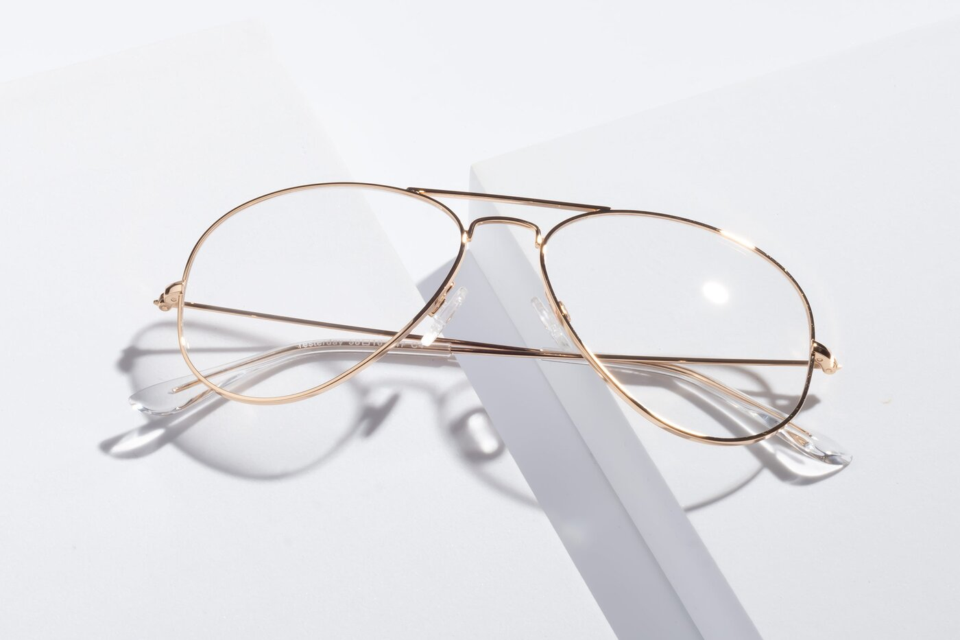 Shiny Gold Grandpa Thin Aviator Eyeglasses