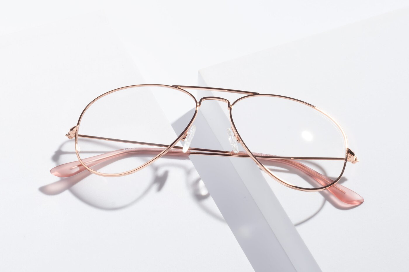Rose Gold Grandpa Thin Aviator Eyeglasses