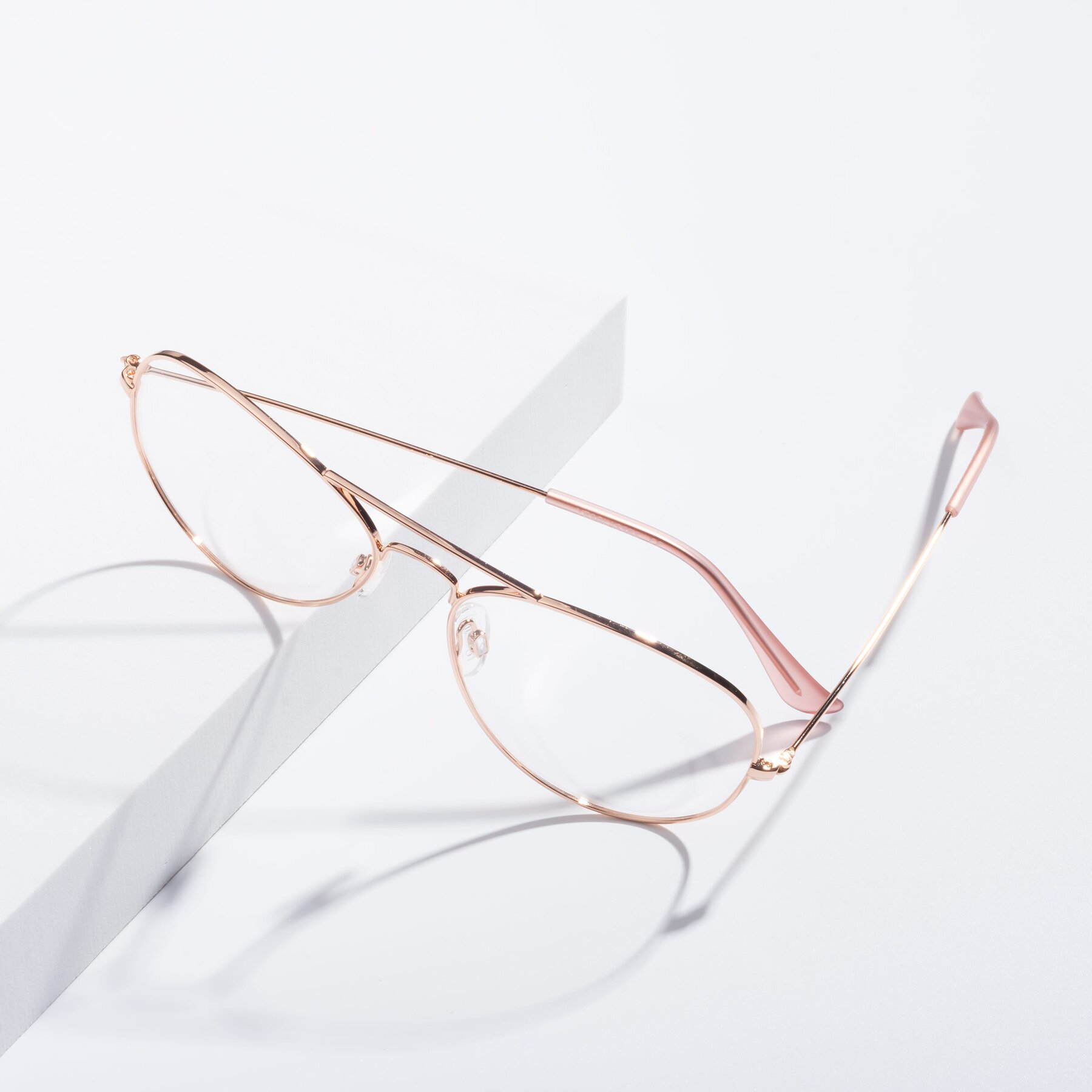Lifestyle photography #2 of SSR035 in Rose Gold with Clear Eyeglass Lenses
