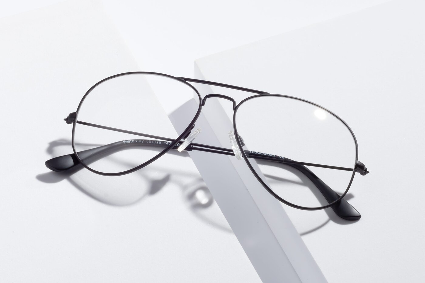 Black Grandpa Thin Aviator Eyeglasses