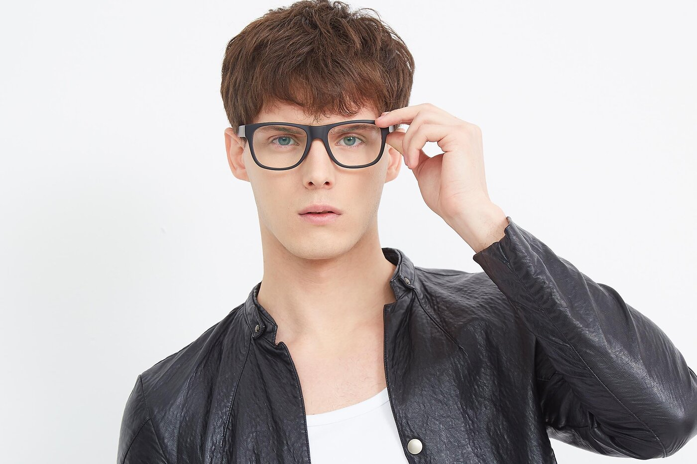Matte Black Oversized Geek-Chic Shield Eyeglasses