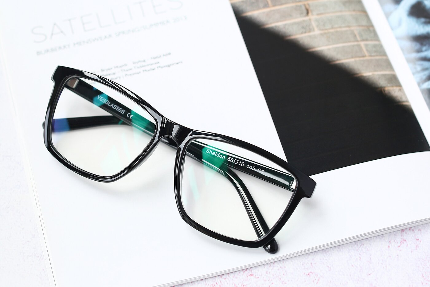 Black Oversized Grandpa Square Eyeglasses
