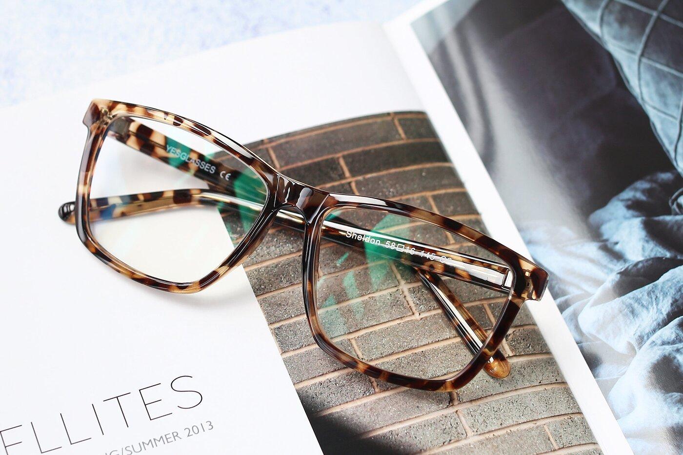 Tortoise Oversized Grandpa Square Eyeglasses