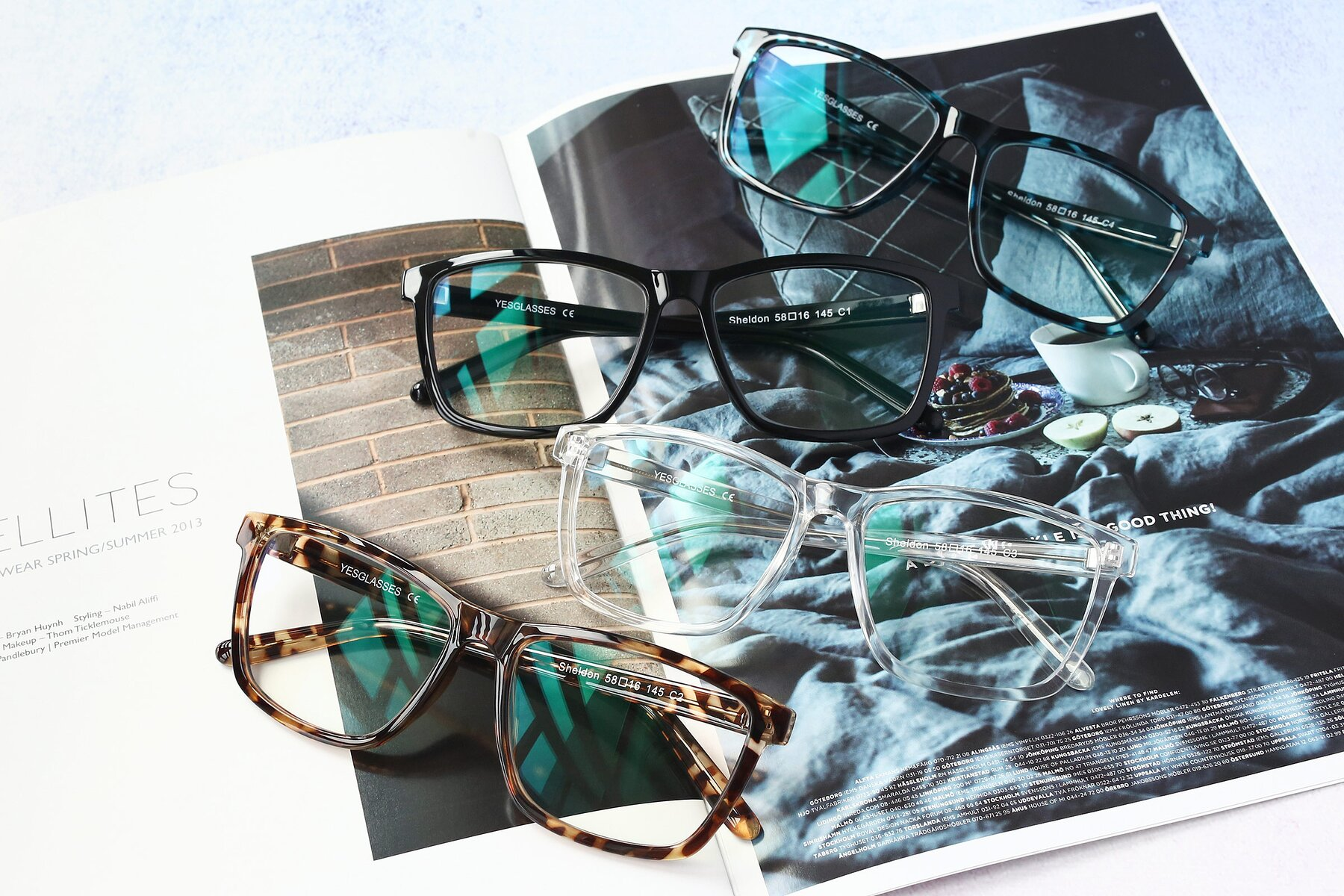 Lifestyle photography #4 of Sheldon in Tortoise with Clear Eyeglass Lenses