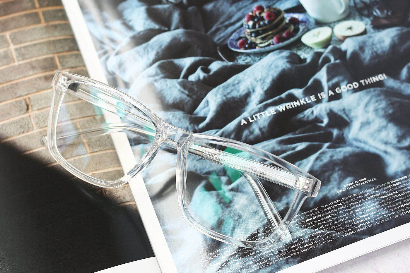Clear Oversized Grandpa Square Eyeglasses