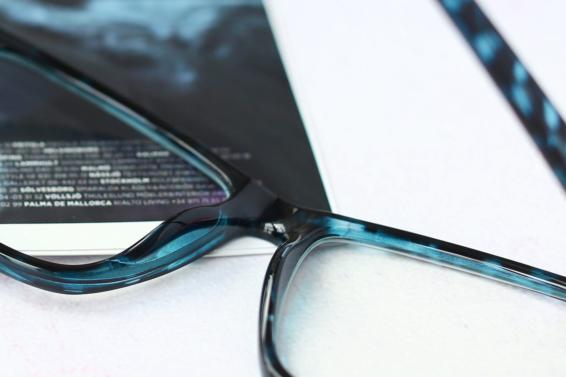 Lifestyle photography #3 of Sheldon in Blue Tortoise with Clear Eyeglass Lenses