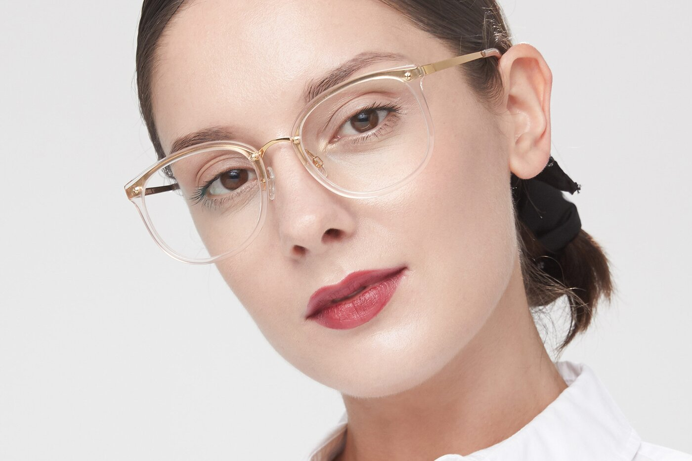 Transparent Pink Grandpa Oversized Butterfly Eyeglasses