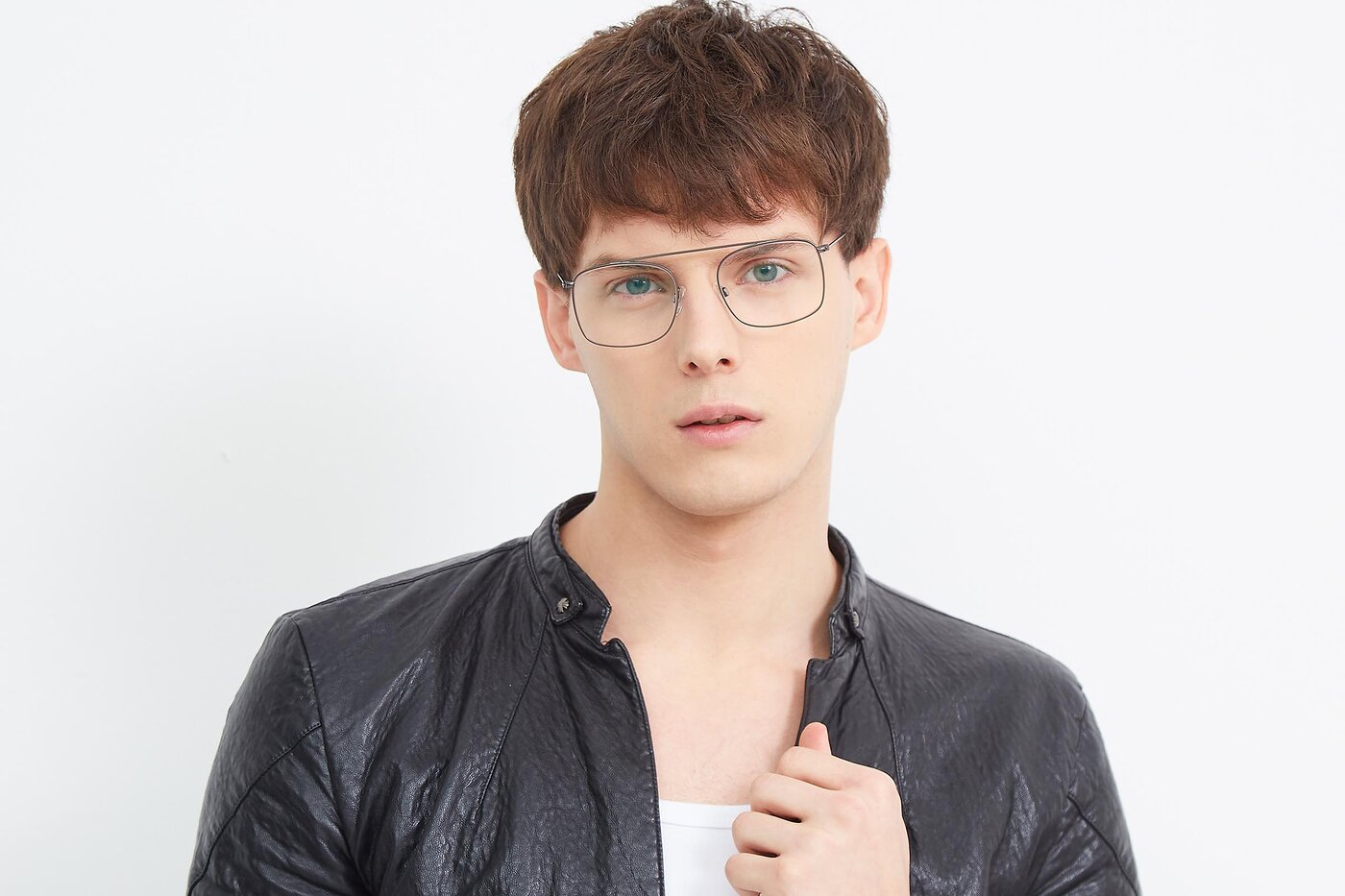 Gunmetal Hipster Thin Metal Eyeglasses