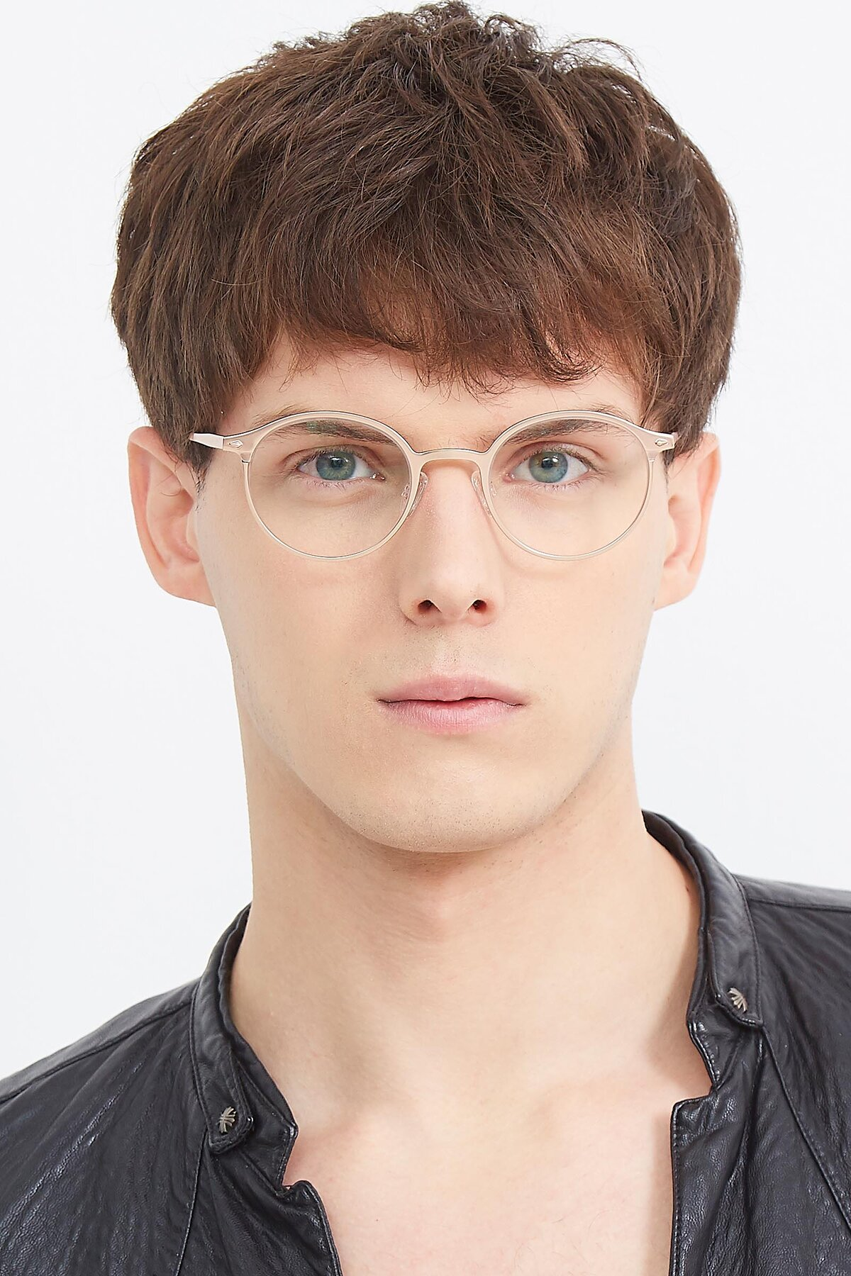 Men's lifestyle photography (portrait-1) of Twilight in Copper with Clear Eyeglass Lenses