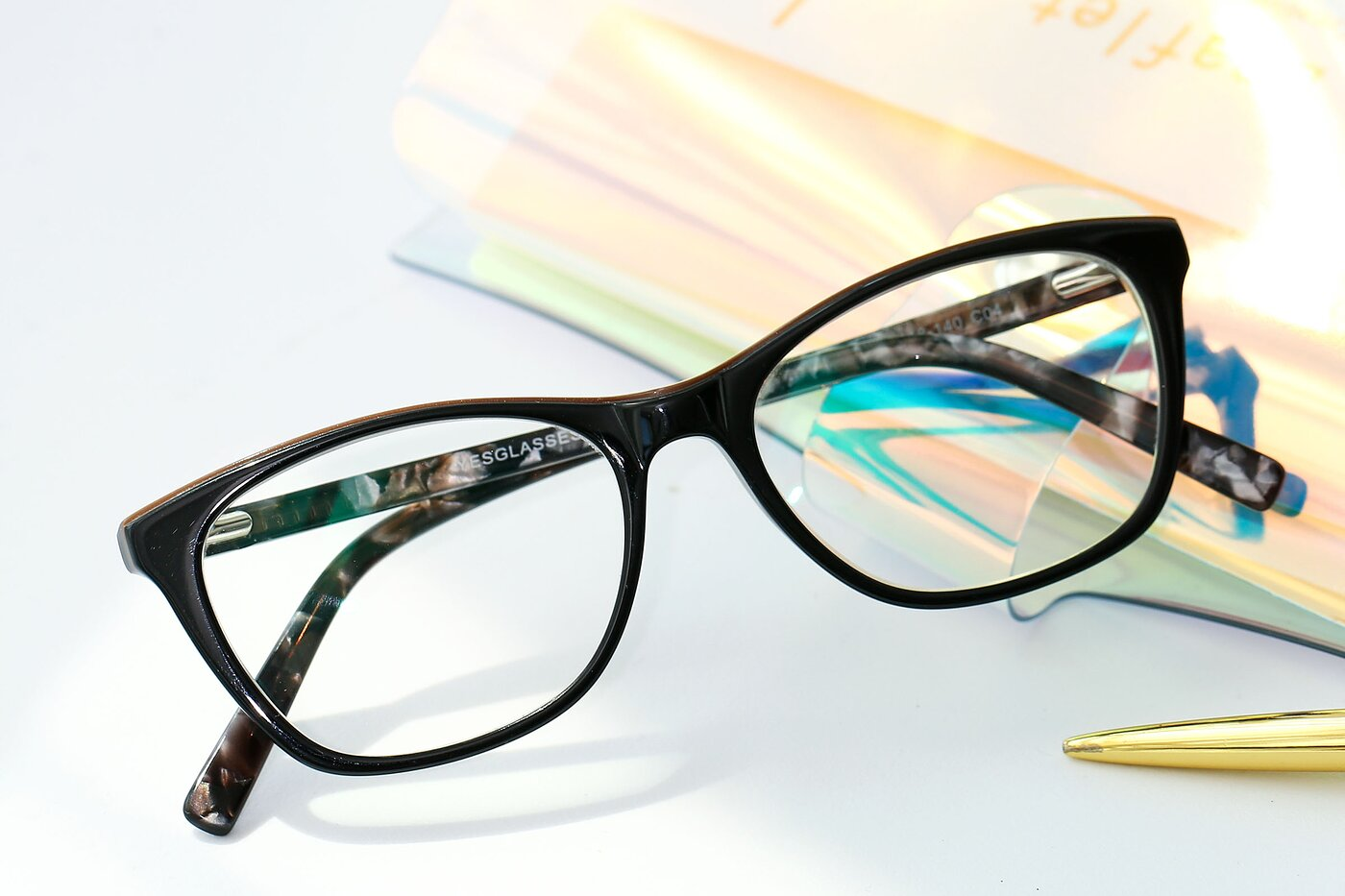 Brown Wayfarer Geek-Chic Acetate Eyeglasses