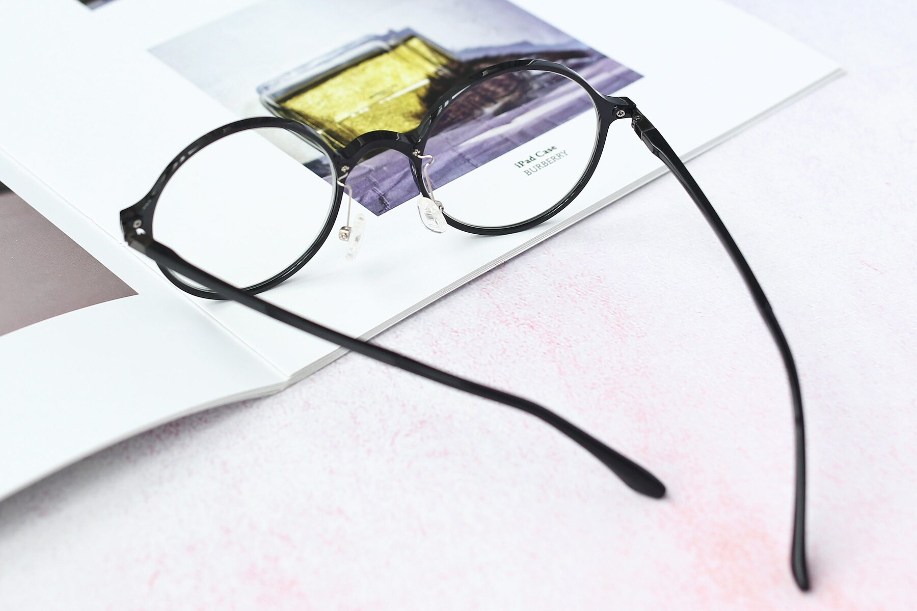Lifestyle photography #2 of Lemon in Black with Clear Eyeglass Lenses