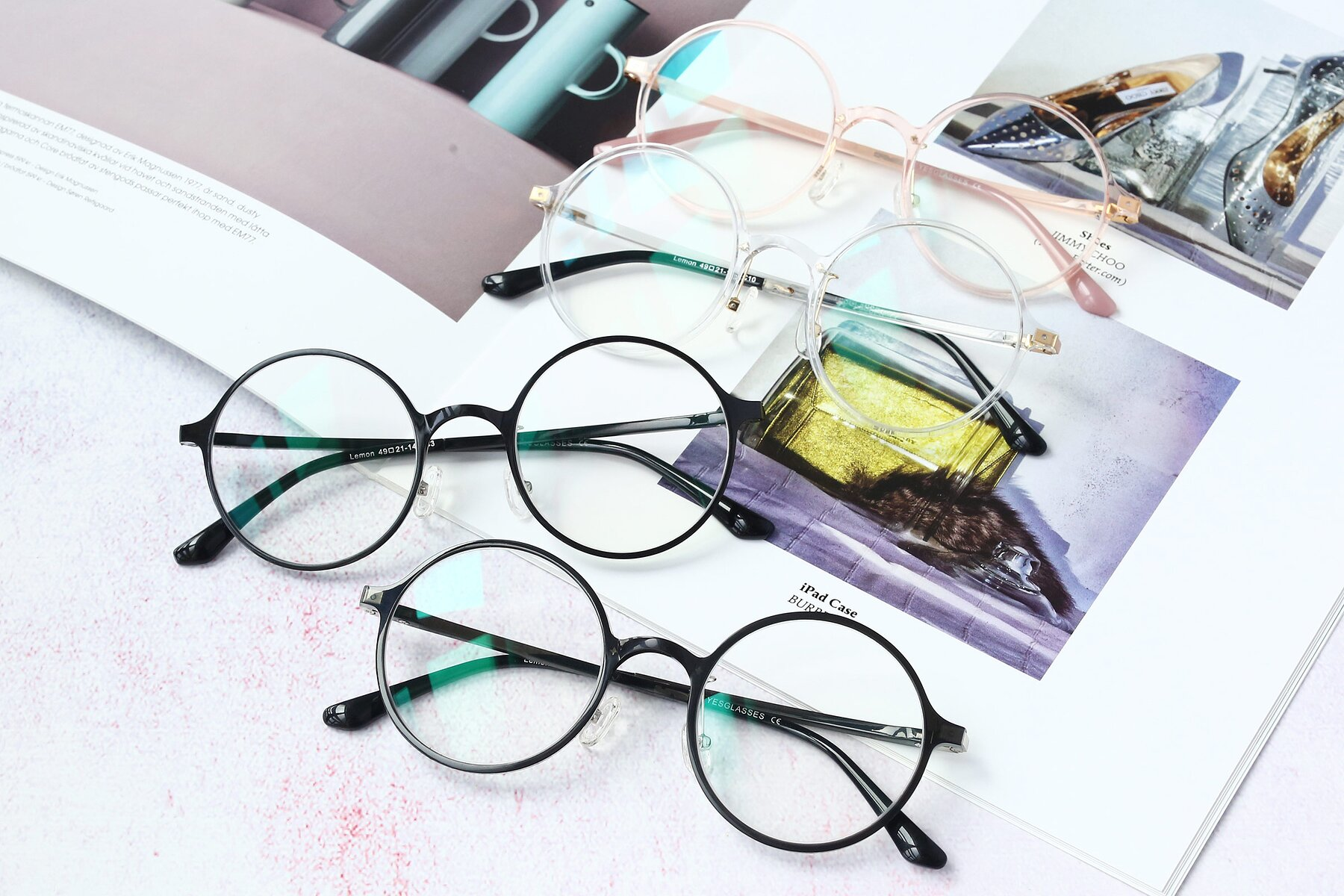 Lifestyle photography #4 of Lemon in Black with Clear Eyeglass Lenses