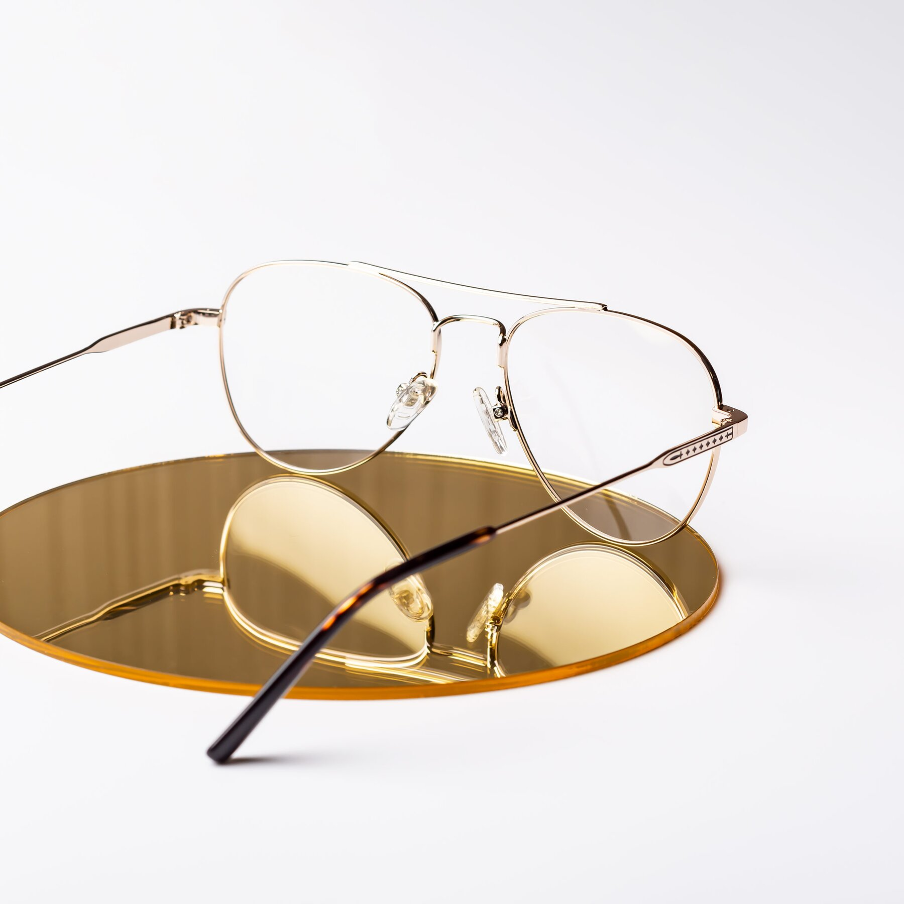 Lifestyle photography #2 of Richard in Gold with Clear Eyeglass Lenses
