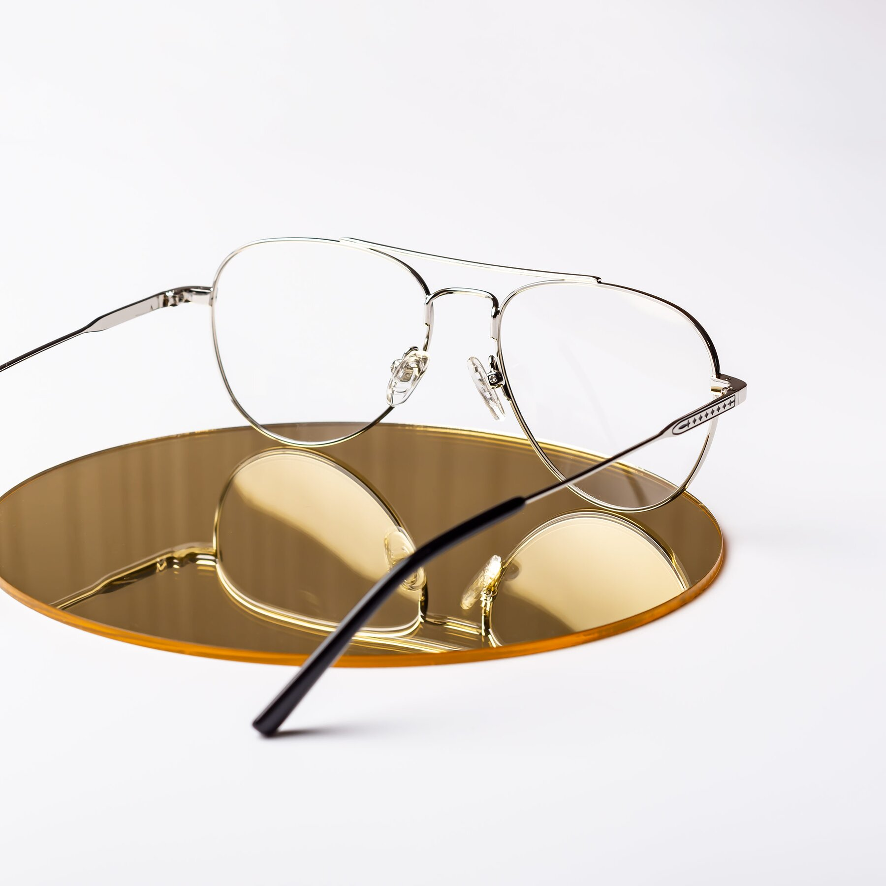 Lifestyle photography #2 of Richard in Silver with Clear Eyeglass Lenses