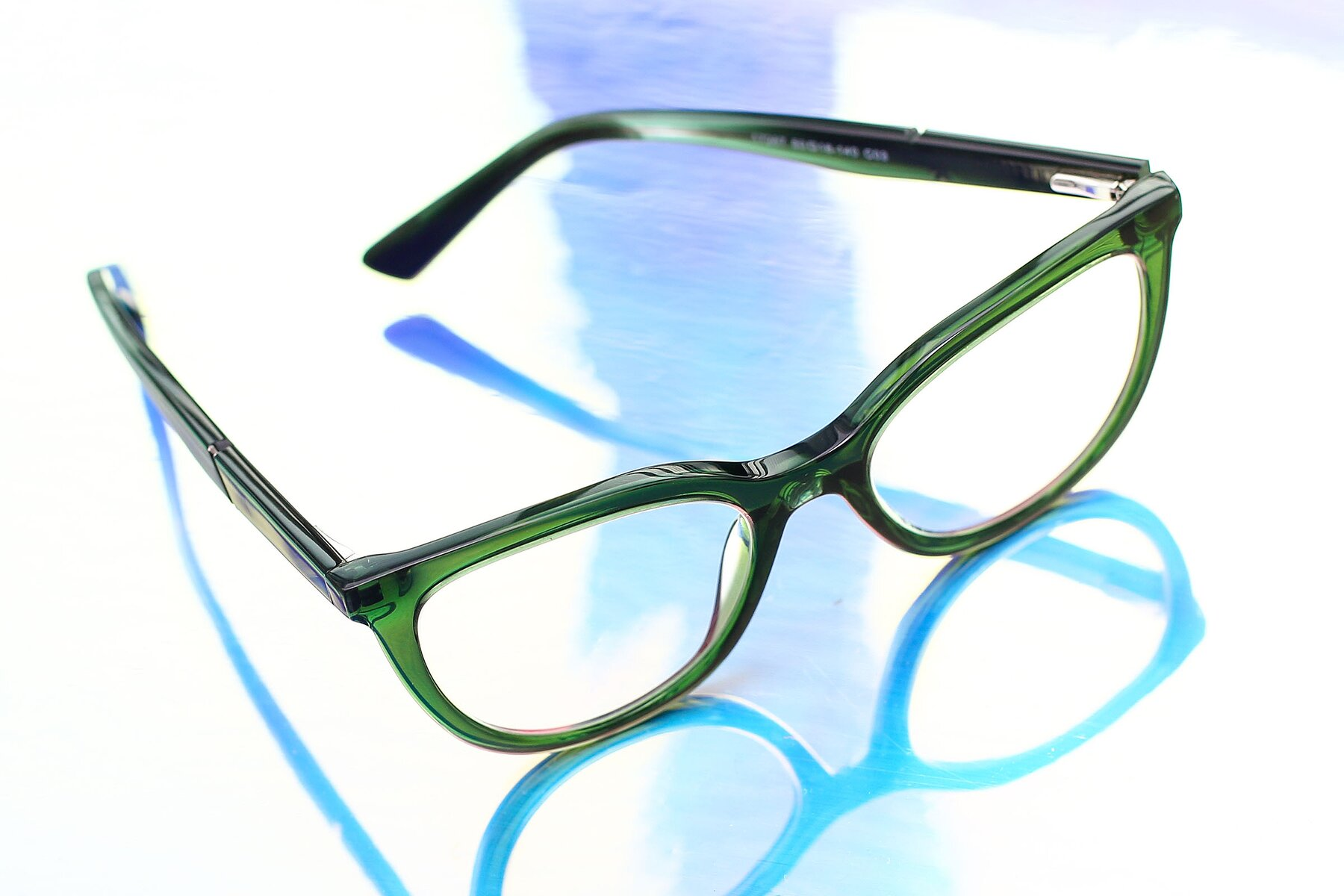 Lifestyle photography #2 of 17287 in Translucent Green with Clear Eyeglass Lenses