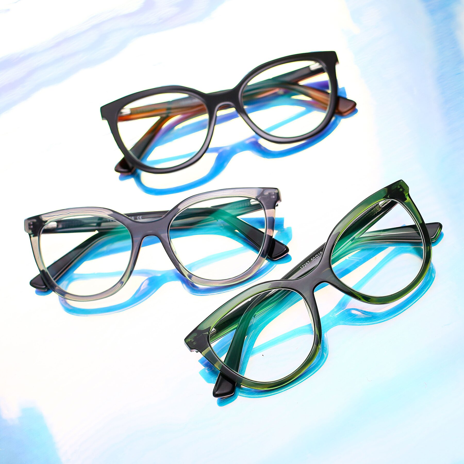 Lifestyle photography #4 of 17287 in Translucent Green with Clear Eyeglass Lenses