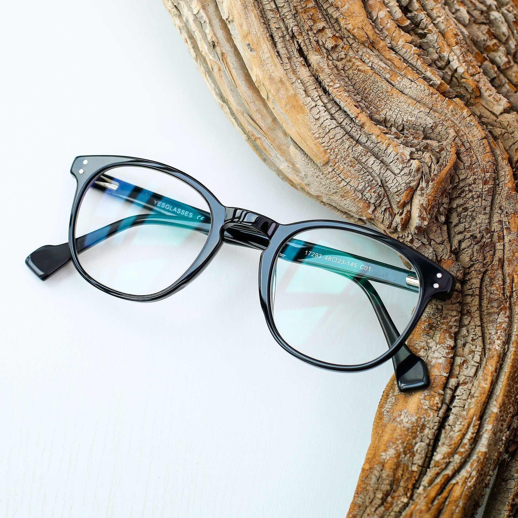 Lifestyle photography #1 of 17293 in Black with Clear Blue Light Blocking Lenses